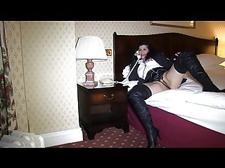Milf in thigh boots sucks concierge at The Grand Hotel