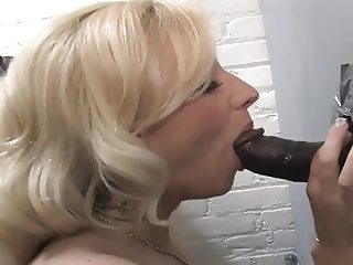 Blonde toilet sucker