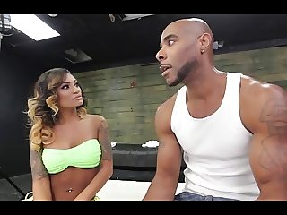 Exotic Miami Babe Takes on Big Black Cock