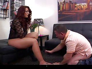 Savannah ass and feet licking