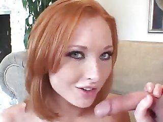 Redhead Vixen her HOT Blowjob