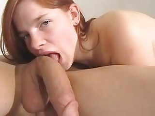 Sweet young redhead fucked and facialized