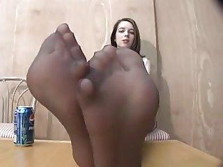 Teens Pantyhose foot fetish