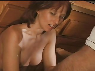 Amateur Housewife and Man On Table