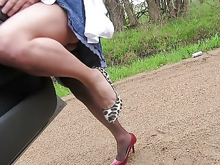 modeling my shoes and legs