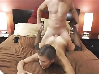 Couple having fun with making a sex tape