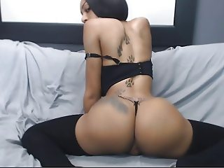 skinny bitch with perky tits and bubble butt