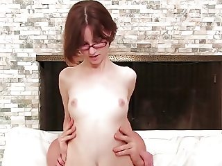 Adorable Thin Babe Jay Talk & Ride Cock