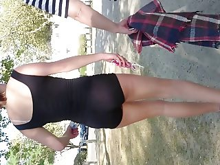 young teen short spandex