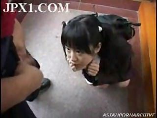 Japanese School Girl helps a Pervert get Off