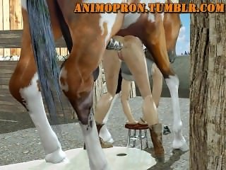 Animopron - Lara anal with Horse