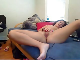 Small Tit Camgirl Has Fun With Dildo In Pussy