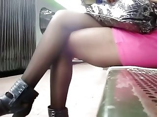 candid girl with beautiful legs
