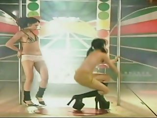 Two hairy Taiwanese - Pole Dance