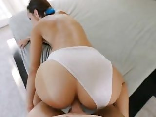 Teen Hard Doggy With White Panties