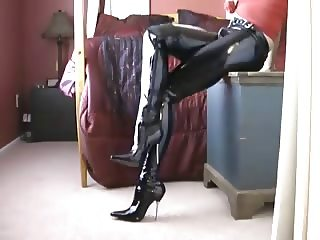 PVC boots and trousers