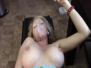 Smoking Milf In The Kitchen
