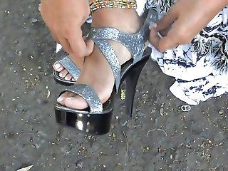 Foot fetish, Stilettos, Platform Shoes, High Heels 36
