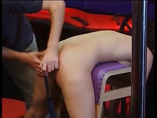 Sexy bitch ass spanked while nude