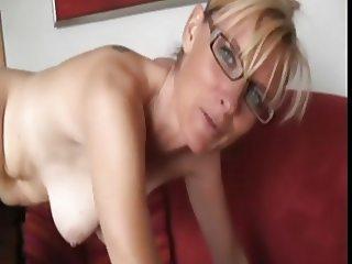 Hot londe milf in glasses
