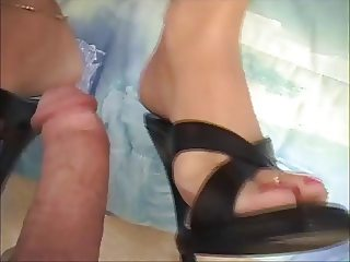 Janet Mason Shoejob - Heeljob - Footjob