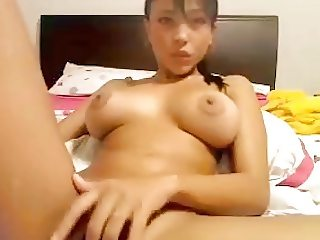 Asia Lulu fingering her pussy
