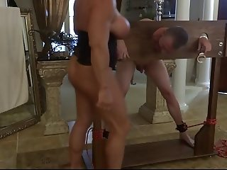 Muscle bitch empties his balls