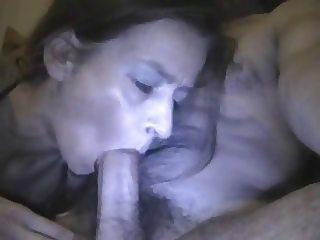Milf cock sucking and cum swallow