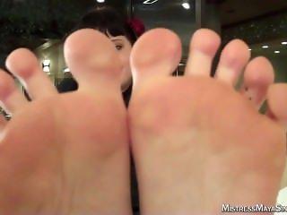 Mistress Maya Striped Socks & Smelly Feet Joi
