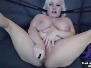 Lovely busty midget and airy blond gamer Diana Blake