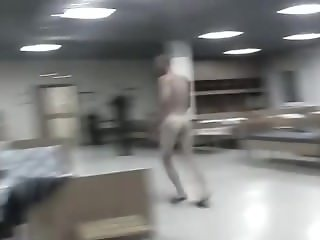 Naked fun in the Army Barracks