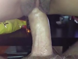 Filipina wife riding white cock