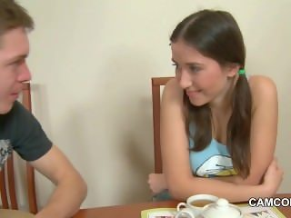 Step-Brother Seduce Sinny Step-Sister to her first Fuck