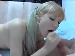 Skinny girl with white socks fuck and blowjob