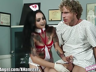 BurningAngel Punk Nurse Rides Dick at Checkup