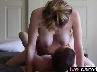 Amateur couple make sex tape - live-cam4