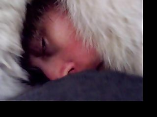 Furgirl white fur hat fur coat blowjob 27