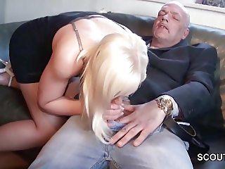 German 18yr old Teen get fucked by Grandpa because debts