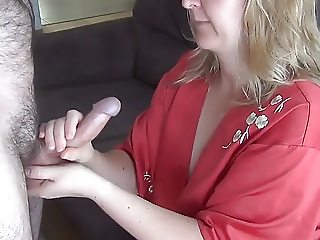 Cum on mature tits