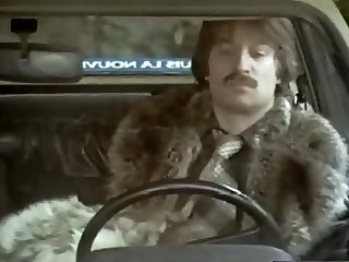 Vintage movies. Blowjob and fucking in fur coat.