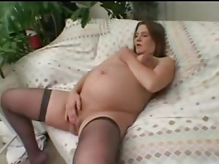 Pregnant MILF masturbating and fucking