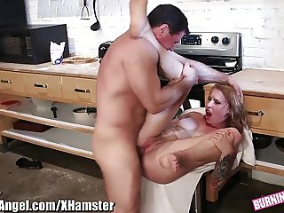 BurningAngel Emo Cutie Rides Dick on the Counter