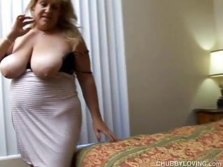 Big beautiful busty blonde BBW loves a hot fucking