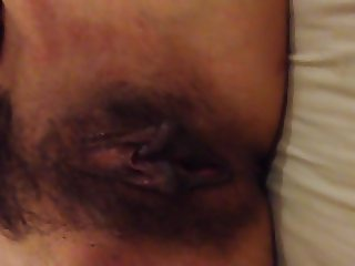 Moaning and shouting before his massive ejaculation
