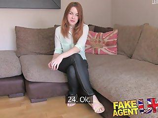 FakeAgentUK Agent fucks petite Spanish redhead good and hard