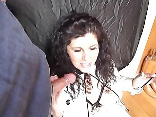 Milf thigh boots smoking champagne blowjob