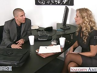 Beauty office babe Julia Ann fucking