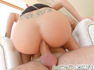 AssTraffic Brand new model gets her ass fucked for the firsttime