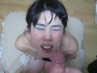 Another Facial for the submissive asian fucktoy