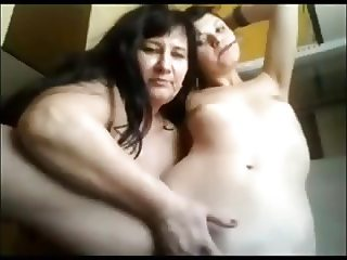 Mom and NOT her daughter in front of WebCam